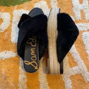 Sam Edleman Faux Fur Platform Shoes (NWT)